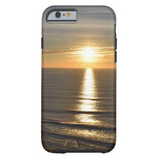 Sunset beach calming relaxing waves tough iPhone 6 case