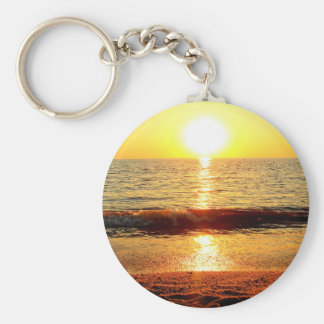Sunset beach, Cape May NJ Basic Round Button Keychain