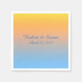 Sunset Beach Colors Napkins Paper Napkins
