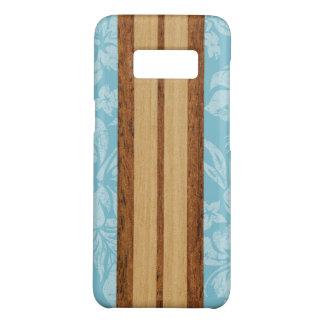 Sunset Beach Faux Wood Surfboard Hawaiian Aqua Case-Mate Samsung Galaxy S8 Case