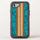 Sunset Beach Faux Wood Surfboard Hawaiian OtterBox Defender iPhone 8/7 Case