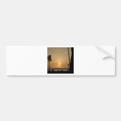 Sunset Beach Horizons Bumper Sticker