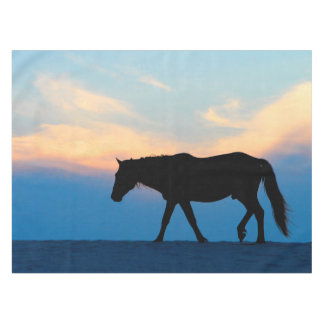 Sunset Beach Horse Tablecloth