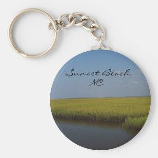 Sunset Beach North Carolina Keychain