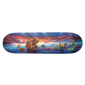 Sunset Beach & Odd Water Toys - Streetart Sk8 Deck Skate Boards