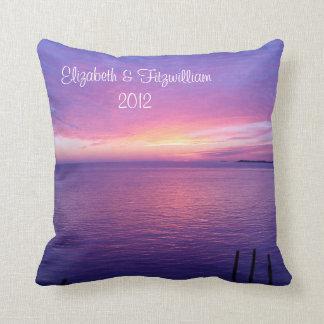 Sunset Beach Pillow Bride & Groom Wedding