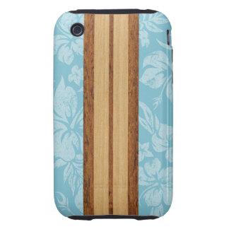 Sunset Beach Surfboard Tough iPhone 3 Covers