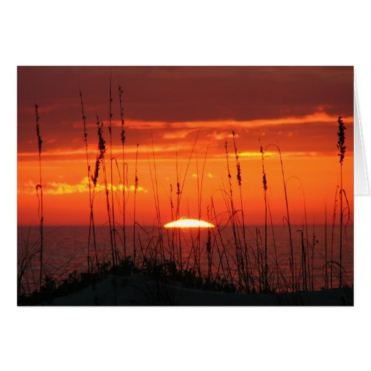 sunset Beach Sympathy Card