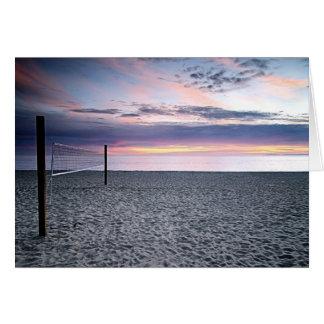 Sunset Beach Volleyball Greeting Card