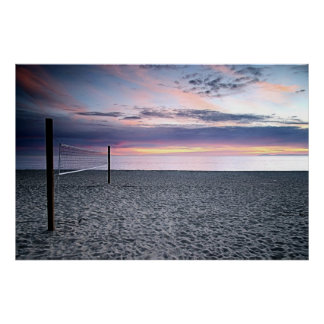 Sunset Beach Volleyball Print