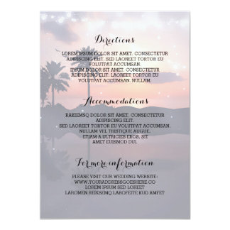 Sunset Beach Wedding Details- Information Card