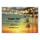 sunset beach wedding thank you cards