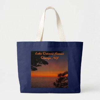 sunset beauty, Lake Ontario SunsetOswego, N... Large Tote Bag