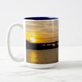 Sunset Behind Roosevelt Bridge Mug