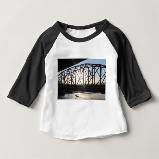 Sunset behind the bridge to Palmer Alaska Baby T-Shirt