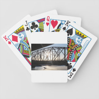 Sunset behind the bridge to Palmer Alaska Bicycle Playing Cards