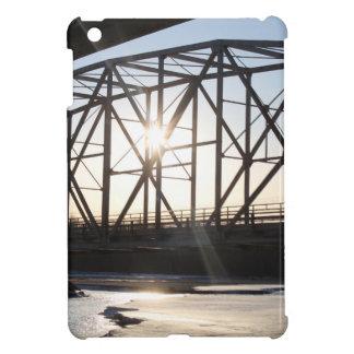 Sunset behind the bridge to Palmer Alaska iPad Mini Cover