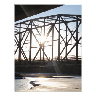 Sunset behind the bridge to Palmer Alaska Letterhead