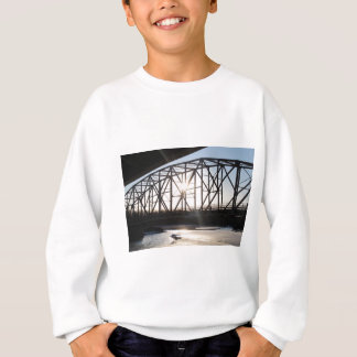 Sunset behind the bridge to Palmer Alaska Sweatshirt