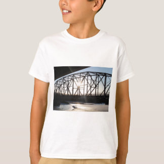 Sunset behind the bridge to Palmer Alaska T-Shirt
