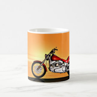 Sunset bike coffee mug