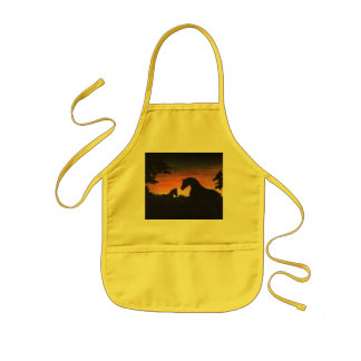 'Sunset Birth' Horse Collection Kids Apron