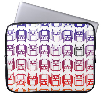 Sunset Block Owl Laptop Sleeve