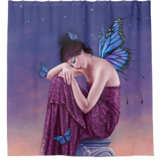 Blue Butterfly Shower Curtains | Zazzle Canada