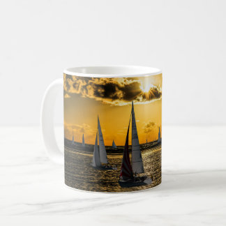 Sunset - Boats Coffee Mug