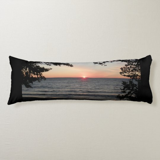 Sunset body pillow