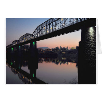Sunset Bridge Card