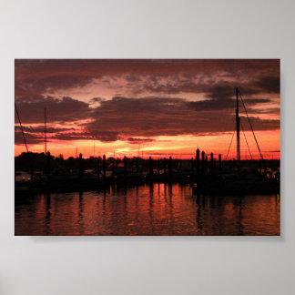 Sunset Bristol Rhode Island Posters