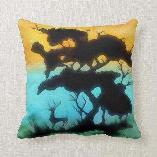 Sunset Buck Throw Pillow