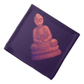 Sunset Buddha Pixel Art Bandana