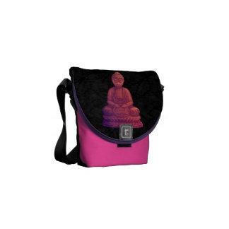 Sunset Buddha Pixel Art Messenger Bag