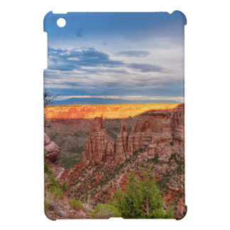 Sunset Burning Ridge Colorado National Monument Cover For The iPad Mini