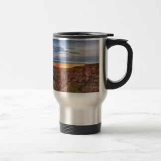 Sunset Burning Ridge Colorado National Monument Travel Mug