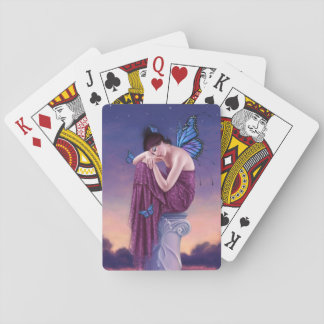 Sunset Butterfly Fairy Classic Playing Cards