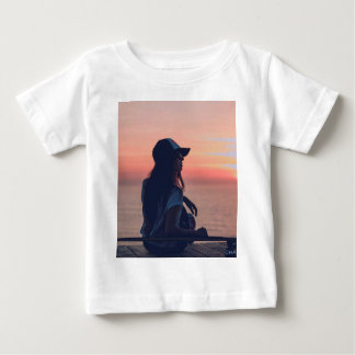 sunset by the beach baby T-Shirt