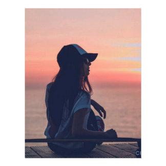 sunset by the beach letterhead