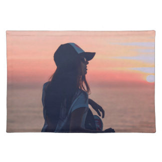 sunset by the beach placemat