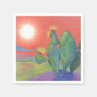 Sunset Cactus Napkin Disposable Napkin