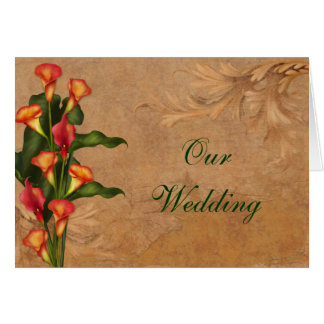 Sunset Calla Lilies Wedding Invitation