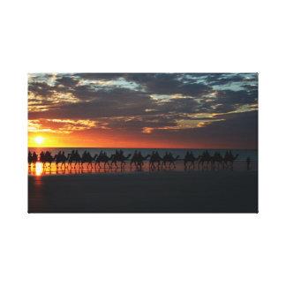 Sunset Camel Ride, Broome, Australia - Canvas