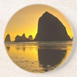 Sunset, Cannon Beach, Oregon, USA Coasters