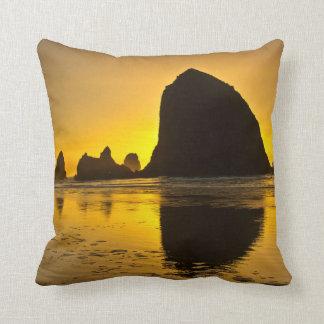 Sunset, Cannon Beach, Oregon, USA Pillow