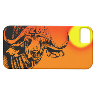 Sunset Cape Buffalo I phone case