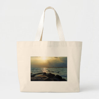 Sunset Cape May Large Tote Bag