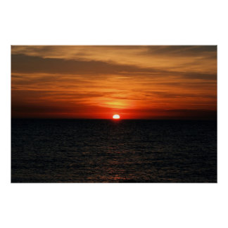 Sunset Cape May Sunset Beach Poster