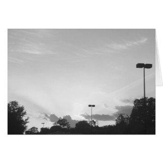 Sunset, card